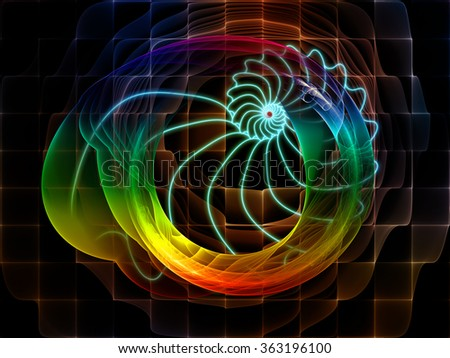 Nature Geometry series. Background design of mathematical swirls and fractals on the subject of math, geometry, design, education and science