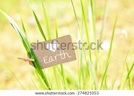 nature greeting card background - environment protection - loving earth