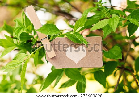 nature greeting card background - loving nature - stock photo