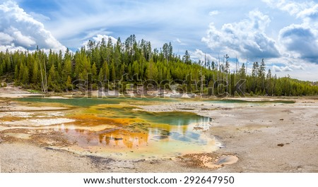 Nature in Norris Basin - Yellowstone National Park - stock photo