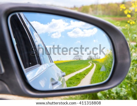 Nature in the mirror - stock photo