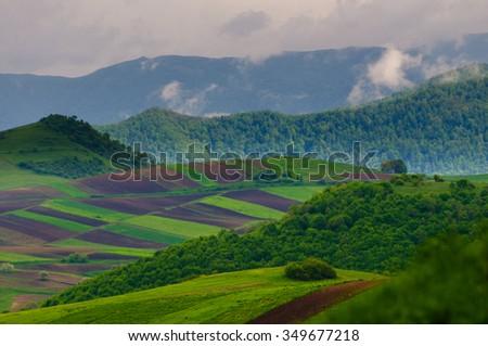 Nature landscape, Armenia - stock photo