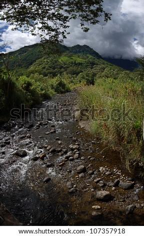 Nature landscape in Oxapampa, Peru - stock photo
