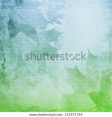 nature leaves background, vintage paper texture,