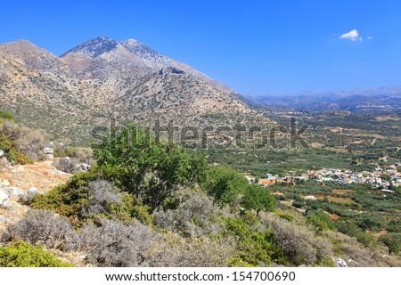 Nature near village Melidoni at Crete - Greece - stock photo