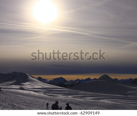 nature of mountains - stock photo