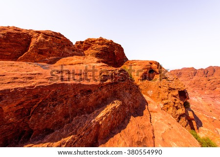 Nature of Petra, Jordan. Petra is one the New Seven Wonders of the World
