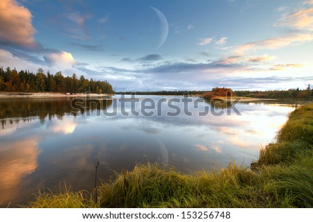 nature of Siberia and the Yamal - stock photo