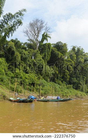 Nature of the Mekong river in Asia