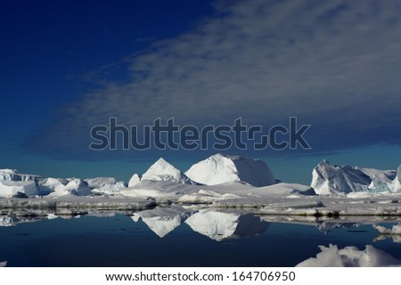 Nature of the south pole. Antarctic landscape. - stock photo