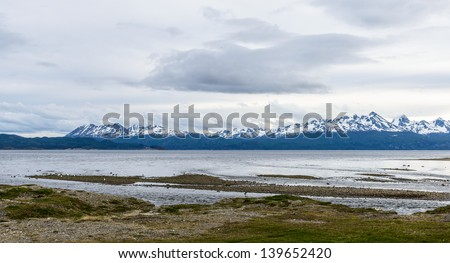 Nature of the Ushuaia: ocean, mountain, down