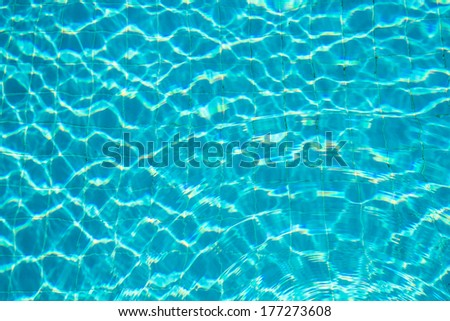 Nature pattern of water in swimming pool - stock photo