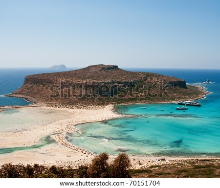 Nature reserve on Crete island