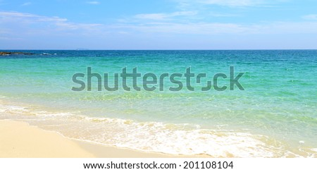 nature scene tropical beach and sea in koh samed island Thailand