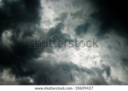 nature series: heavy gray storm rain cloud