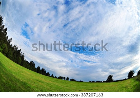 Nature sky environment wide fish-eye