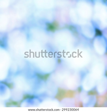 Nature Soft abstract background  blurred magic lights for your design. Blie white color  - stock photo