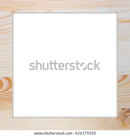 Nature wooden vintage photo frame. Elegant Design with copy space for placement your text, mock up your product, image, photo inside the frame. - stock photo