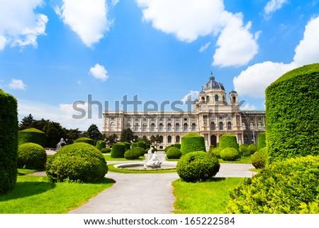 Naturhistorisches Museum and park in Vienna, Austria - stock photo
