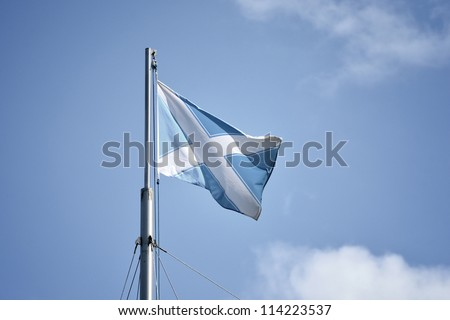 nautical Andrew flag. Flag of Scotland