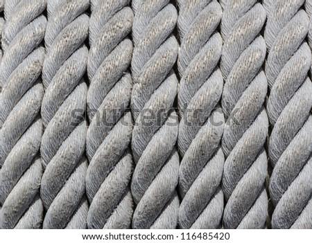 Nautical Rope, Closeup as Nautical Background and Texture. - stock photo