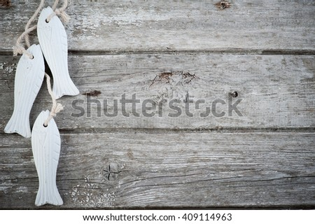 Nautical SPA Background on old wooden table