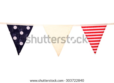 nautical wedding bunting studio cutout - stock photo