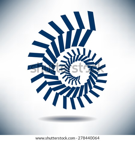 Nautilus Image with a Simple Blue Background - stock photo
