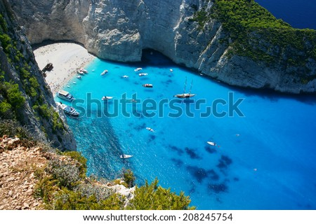 Navagio Beach in Greece Island Zakynthos
