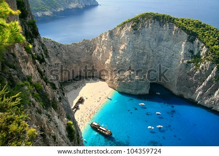 Navagio, shipwreck bay, the island of Zakynthos, Greece