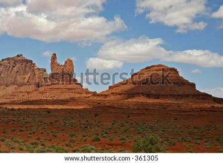 Navajo Nation's Monument Valley Formations - stock photo