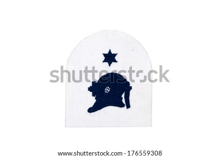 naval divers embroidered badge - stock photo
