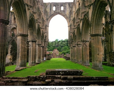Nave of Rievaux Abbey Yorkshire
