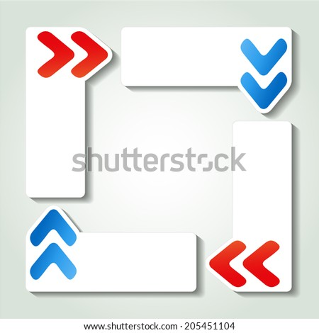 navigation banners with arrows, web template - stock photo