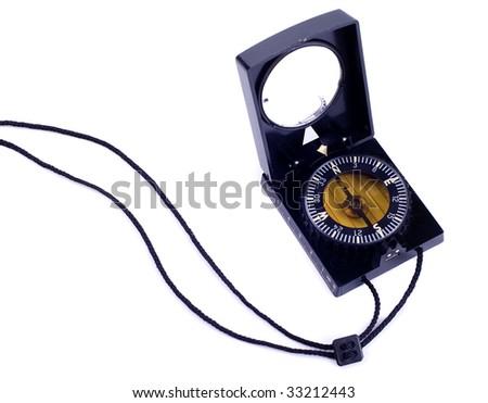 Navigation compass - stock photo