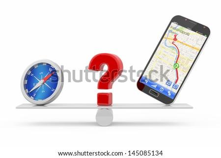 navigation concept - stock photo
