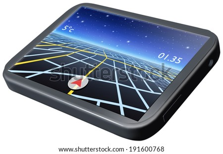 Navigation System isolated - stock photo