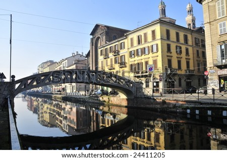Naviglio, Milan - stock photo