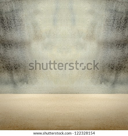 Navy and Sepia Watercolor Paint Backdrop - stock photo