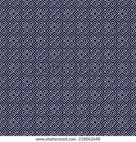 Navy Blue and White Square Geometric Repeat Pattern Background that is seamless and repeats