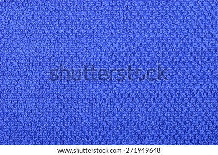Navy blue, terry towel background texture. Copyspace. - stock photo