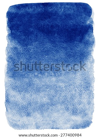Navy blue watercolor abstract background. Gradient fill. Hand drawn texture. Rough edges. Raster version.   - stock photo
