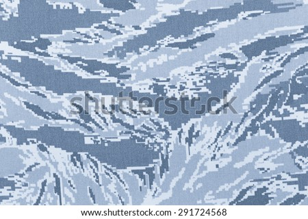 Navy digital blue tigerstripe camouflage fabric texture background - stock photo