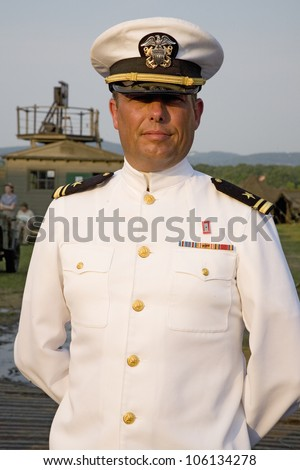 Indian navy officers dress white hat