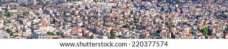 Nazareth city panoramic view, Israel  - stock photo