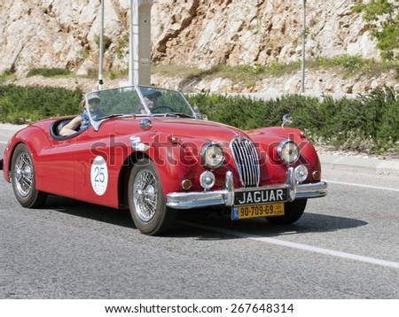 Nazareth - MAR 24: The 2015 Holy land 1000 mile tour on March 24, 2015 in Israel. this was the 1st trip featured 40 classic automobiles. - stock photo