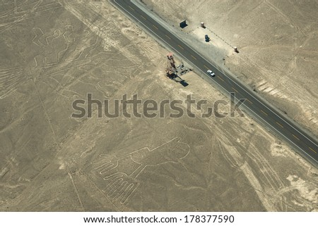 Nazca Lines, Peru - stock photo