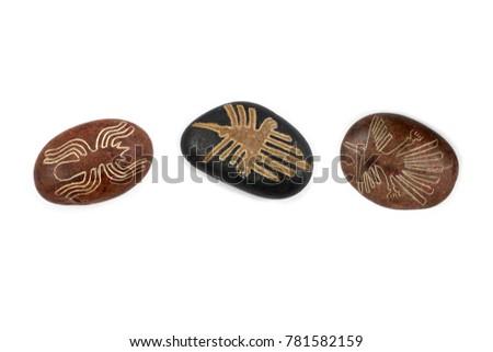 Nazca Lines Symbols Stock Images Pebbles Stock Photo Edit Now
