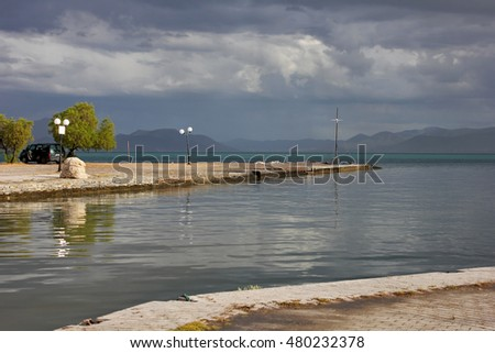 Nea Anchialos - The Greek sea after storm