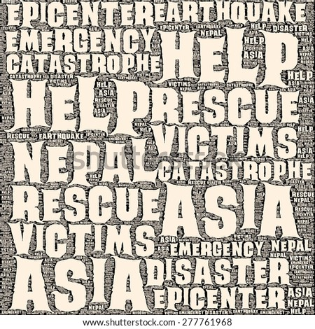 Neap Earthquake Tremore word salad cloud illustration. - stock photo